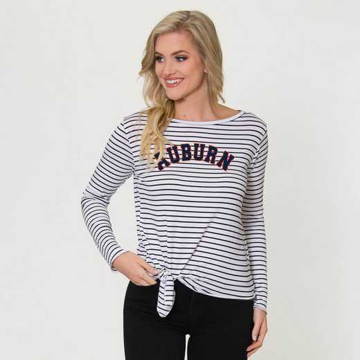 Auburn  Tara Long Sleeve Tie-Front Top by Flying Colors