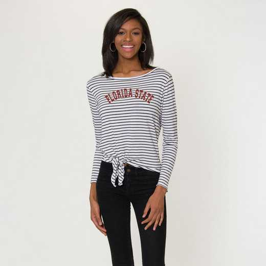 Florida State  Tara Long Sleeve Tie-Front Top by Flying Colors