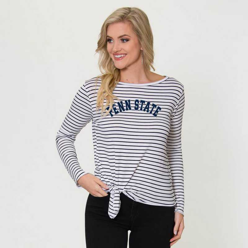 Penn State  Tara Long Sleeve Tie-Front Top by Flying Colors