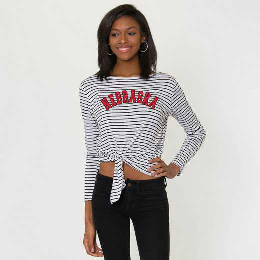 Nebraska  Tara Long Sleeve Tie-Front Top by Flying Colors