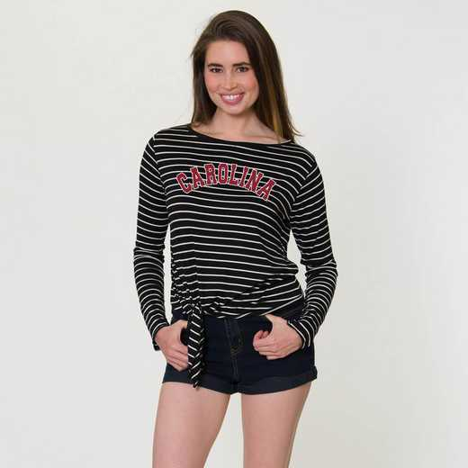 South Carolina  Tara Long Sleeve Tie-Front Top by Flying Colors