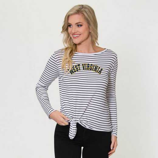 West Virginia  Tara Long Sleeve Tie-Front Top by Flying Colors