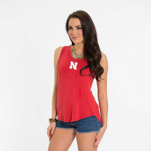 Nebraska Kristi Tie-Back Tank by Flying Colors