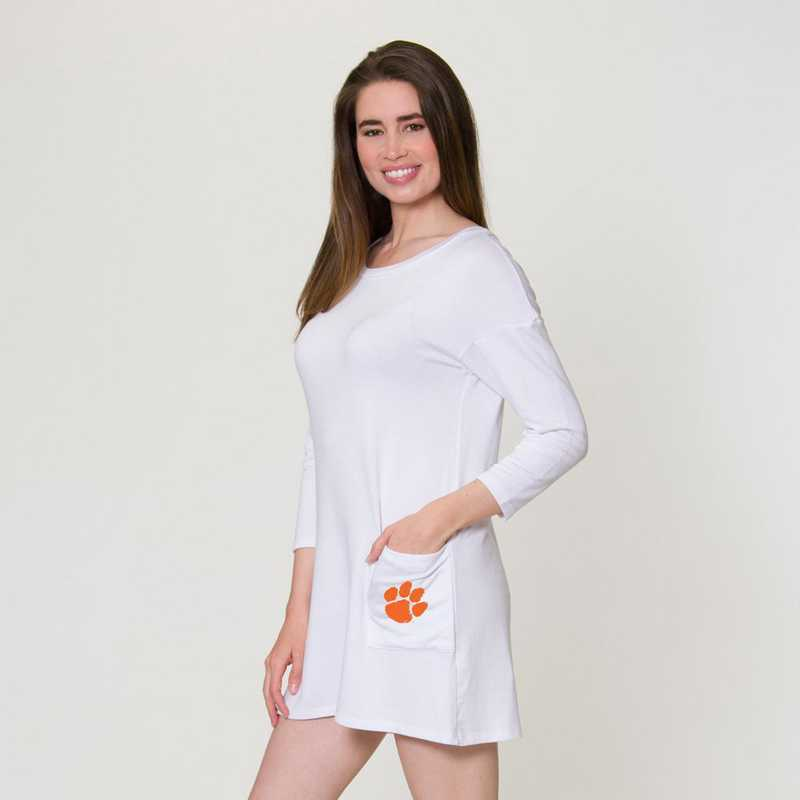 Clemson  Brittany Button Back Dress by Flying Colors