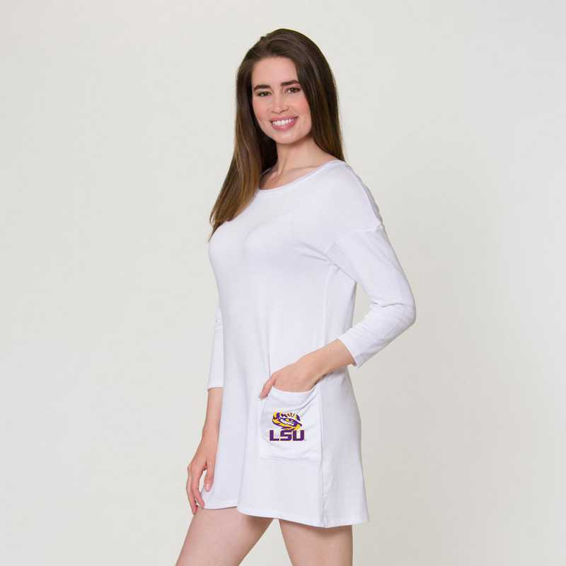 LSU Brittany Button Back Dress by Flying Colors