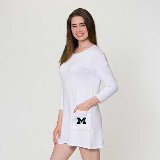Michigan  Brittany Button Back Dress by Flying Colors