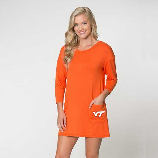 Virginia Tech  Brittany Button Back Dress by Flying Colors