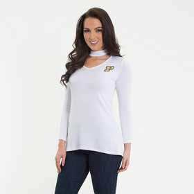 Purdue  Chelsea Choker Top by Flying Colors