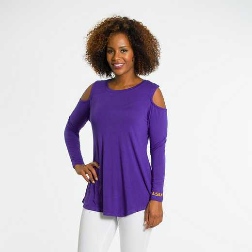 LSU  Courtney Cold Shoulder by Flying Colors