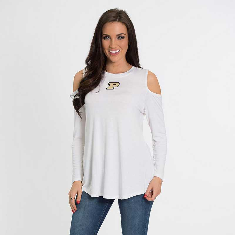 Purdue Courtney Cold Shoulder by Flying Colors