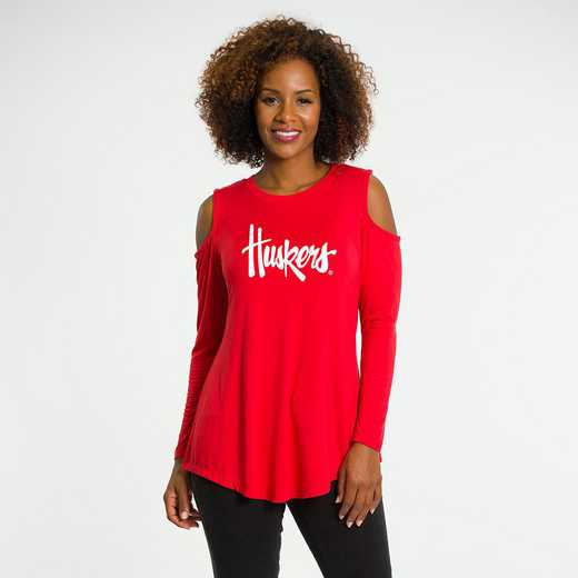 Nebraska Courtney Cold Shoulder by Flying Colors