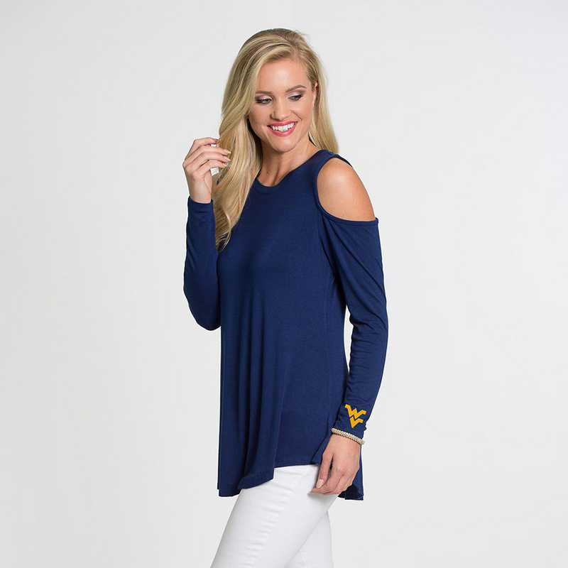 West Virginia Courtney Cold Shoulder by Flying Colors
