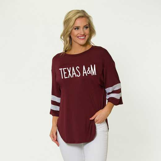 Texas A&M Jordan Short Sleeve Gameday Jersey by Flying Colors