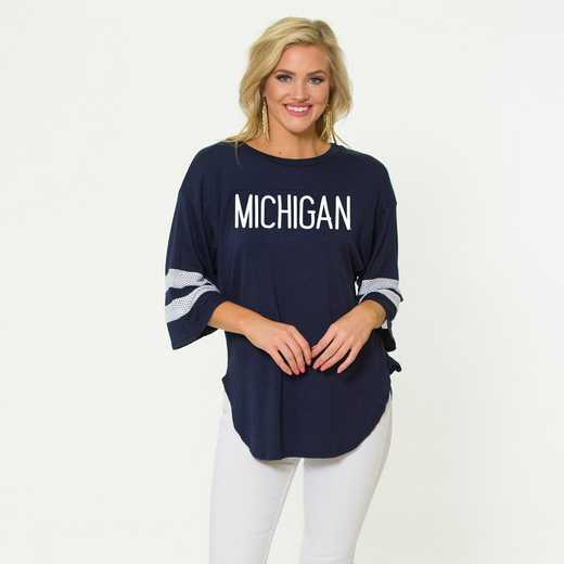 Michigan Jordan Short Sleeve Gameday Jersey by Flying Colors