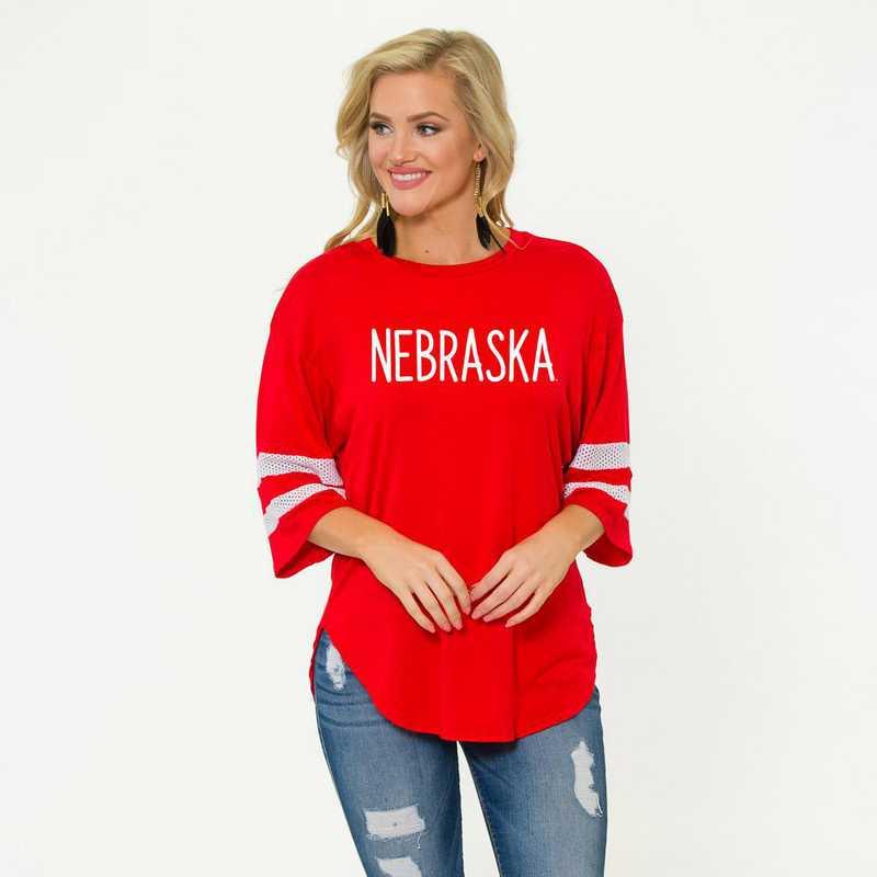 Nebraska Jordan Short Sleeve Gameday Jersey by Flying Colors