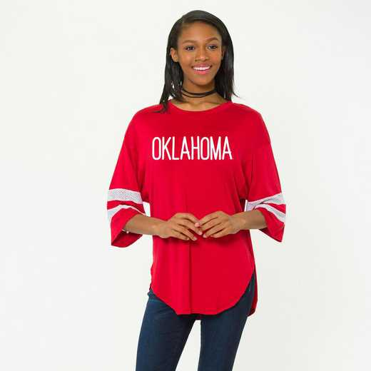 Oklahoma Jordan Short Sleeve Gameday Jersey by Flying Colors