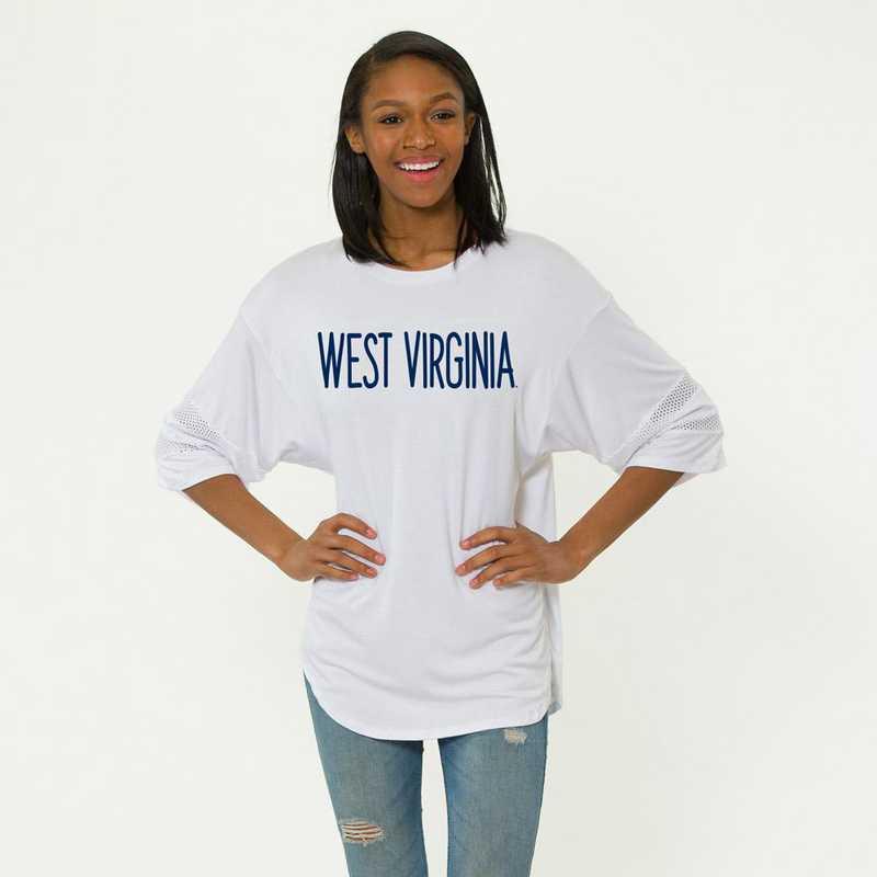 West Virginia Jordan Short Sleeve Gameday Jersey by Flying Colors