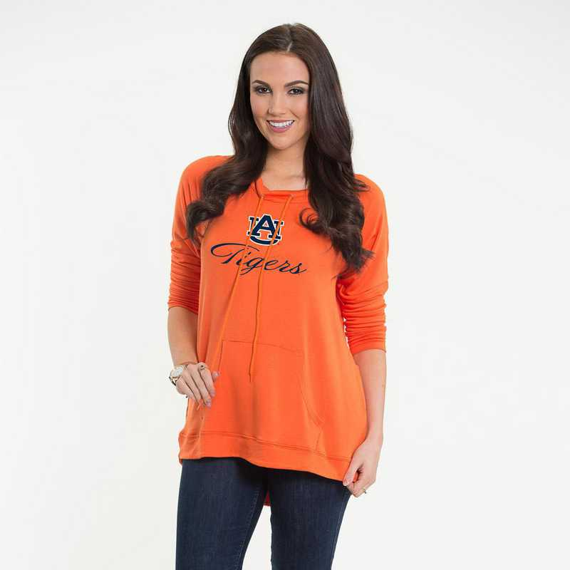 Auburn -  Katie Key-hole cut-out back pullover by Flying Colors