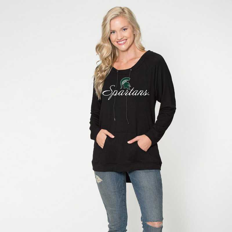 Michigan State - Katie Key-hole cut-out back pullover by Flying Colors