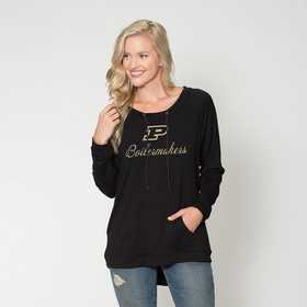 Purdue- Katie Key-hole cut-out back pullover by Flying Colors