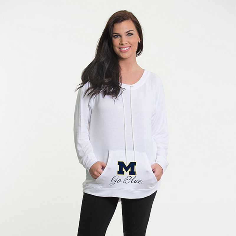 Michigan -  Katie Key-hole cut-out back pullover by Flying Colors