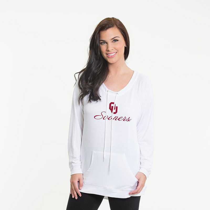 Oklahoma- Katie Key-hole cut-out back pullover by Flying Colors