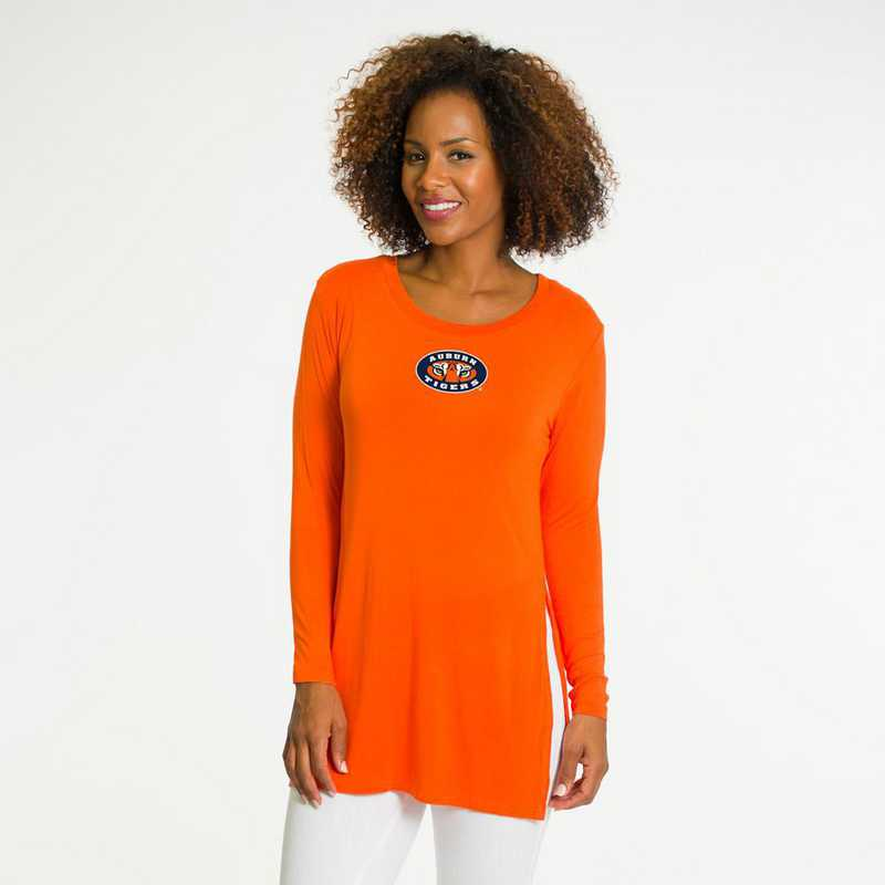 Auburn- Marie Side Slit Tunic by Flying Colors