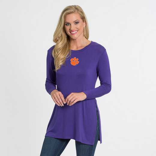 Clemson- Marie Side Slit Tunic by Flying Colors