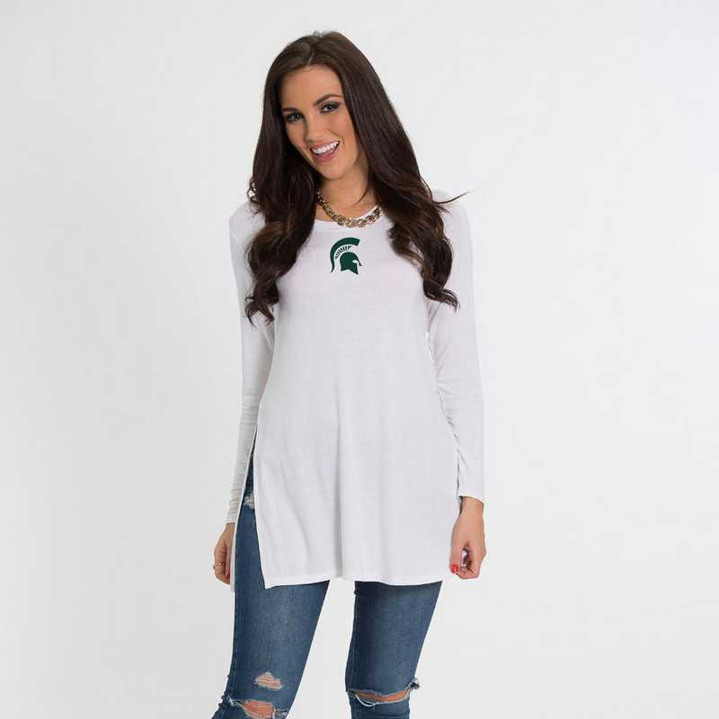 MIchigan State- Marie Side Slit Tunic by Flying Colors