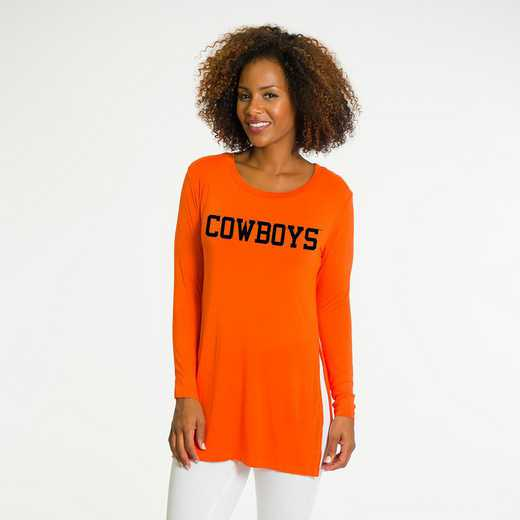 Oklahoma State- Marie Side Slit Tunic by Flying Colors