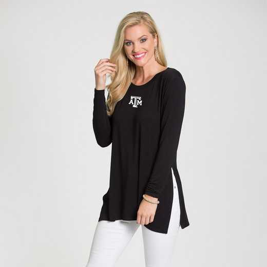 Texas A&M- Marie Side Slit Tunic by Flying Colors