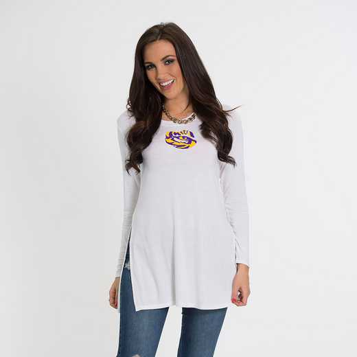 LSU- Marie Side Slit Tunic by Flying Colors