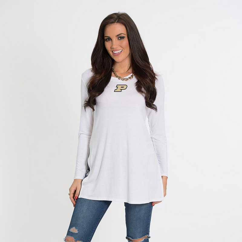 Purdue- Marie Side Slit Tunic by Flying Colors