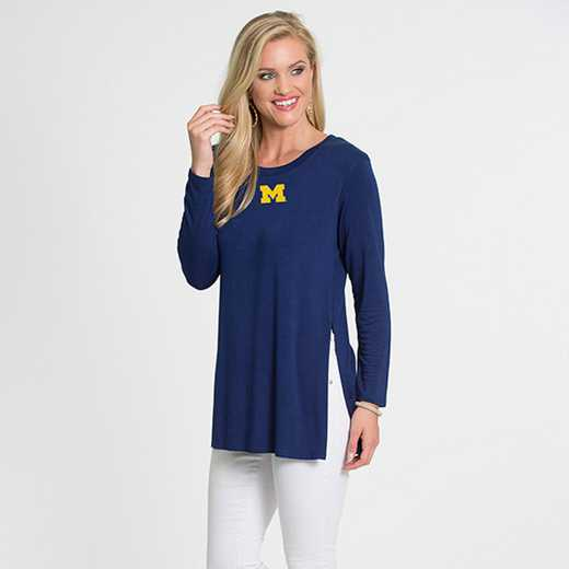 Michigan- Marie Side Slit Tunic by Flying Colors