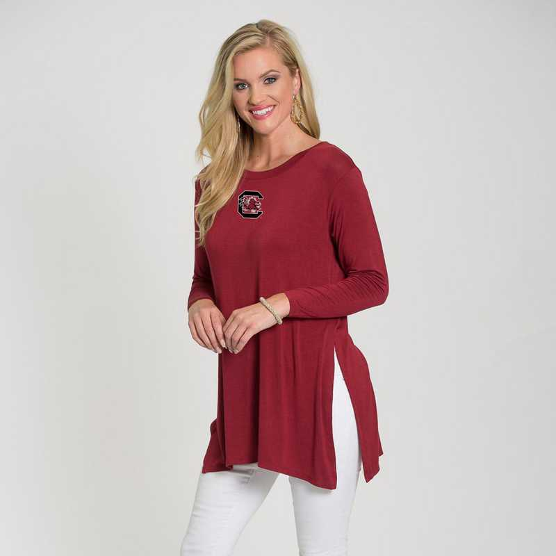 South Carolina- Marie Side Slit Tunic by Flying Colors