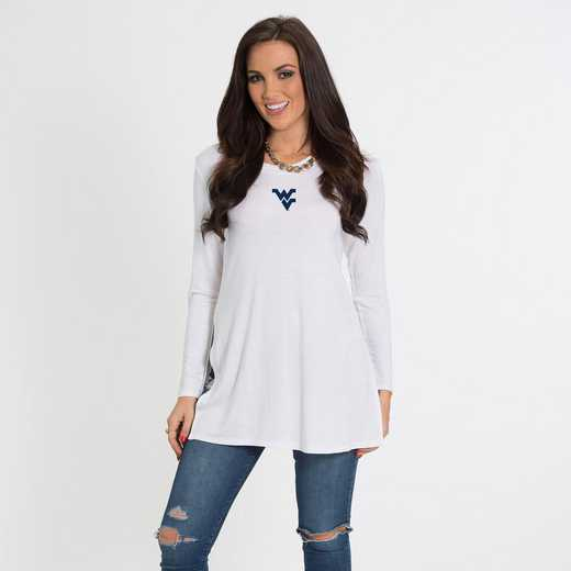West Virginia- Marie Side Slit Tunic by Flying Colors