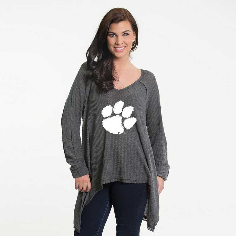 Clemson   Melody Thermal Knit Top by Flying Colors