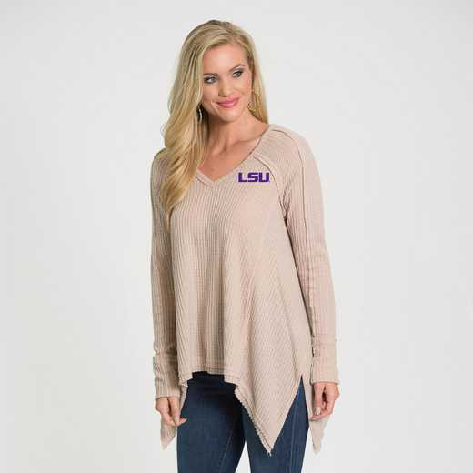 LSU   Melody Thermal Knit Top by Flying Colors