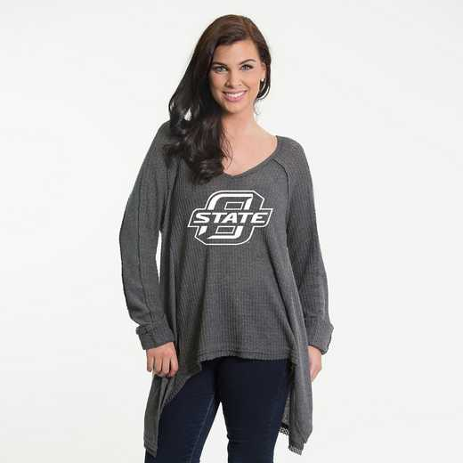 Oklahoma State  Melody Thermal Knit Top by Flying Colors