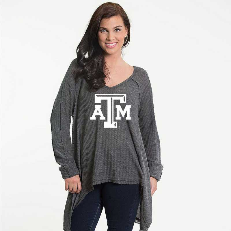 Texas A&M Melody Thermal Knit Top by Flying Colors