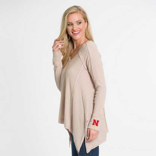 Nebraska   Melody Thermal Knit Top by Flying Colors