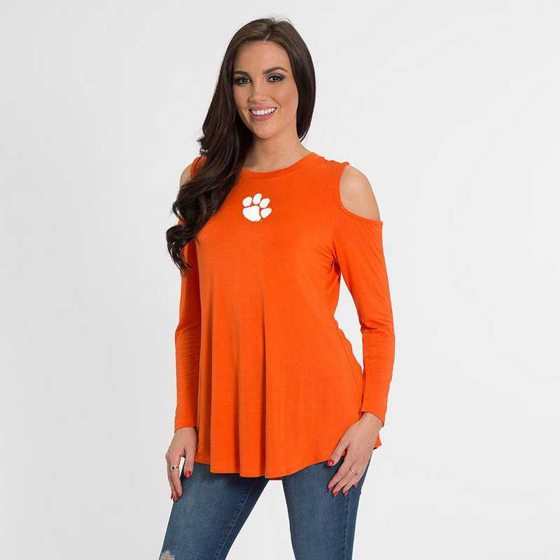 Clemson- Courtney Cold Shoulder by Flying Colors