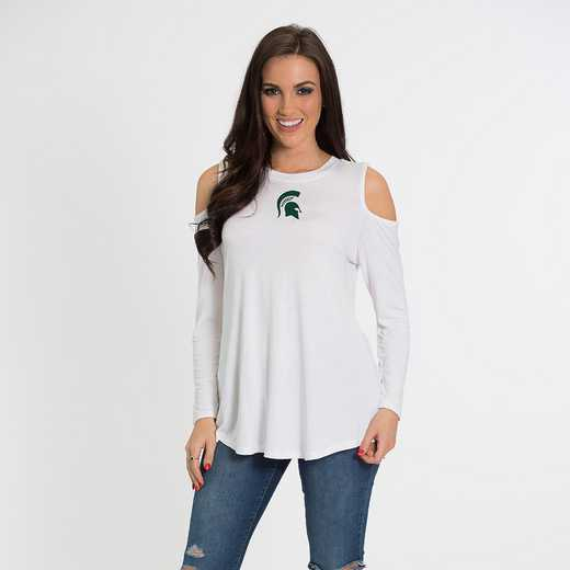 MIchigan State- Courtney Cold Shoulder by Flying Colors