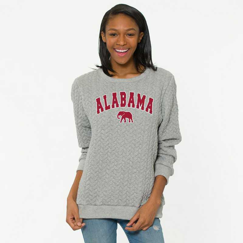 Alabama  Jenny Braided Jacquard Crewneck Sweatshirt by Flying Colors