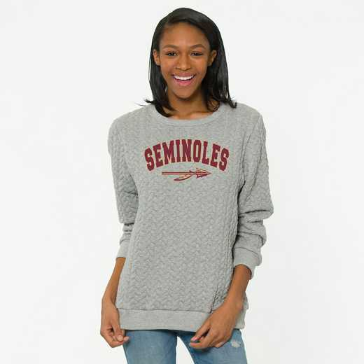 Florida State   Jenny Braided Jacquard Crewneck Sweatshirt by Flying Colors