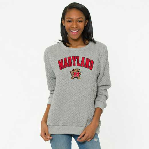 Maryland Jenny Braided Jacquard Crewneck Sweatshirt by Flying Colors