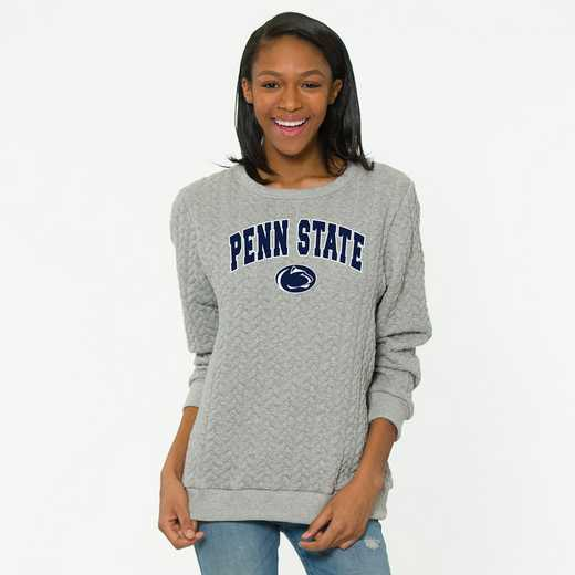 Penn State   Jenny Braided Jacquard Crewneck Sweatshirt by Flying Colors