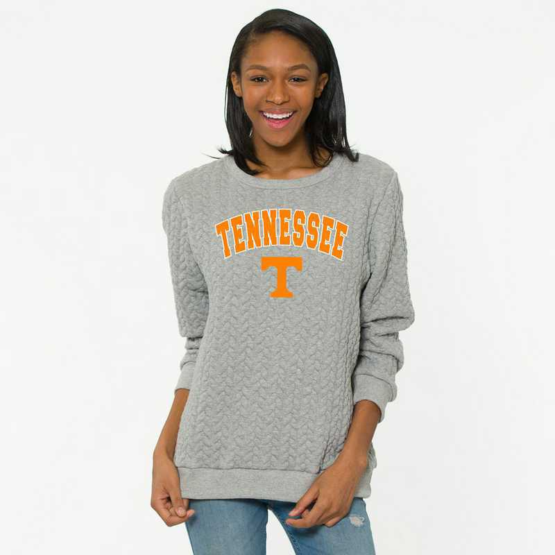 Tennessee   Jenny Braided Jacquard Crewneck Sweatshirt by Flying Colors