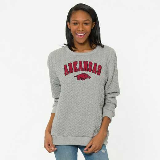 Arkansas   Jenny Braided Jacquard Crewneck Sweatshirt by Flying Colors