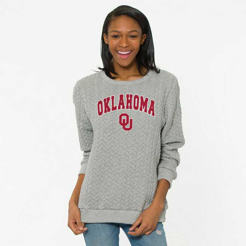 Oklahoma Jenny Braided Jacquard Crewneck Sweatshirt by Flying Colors